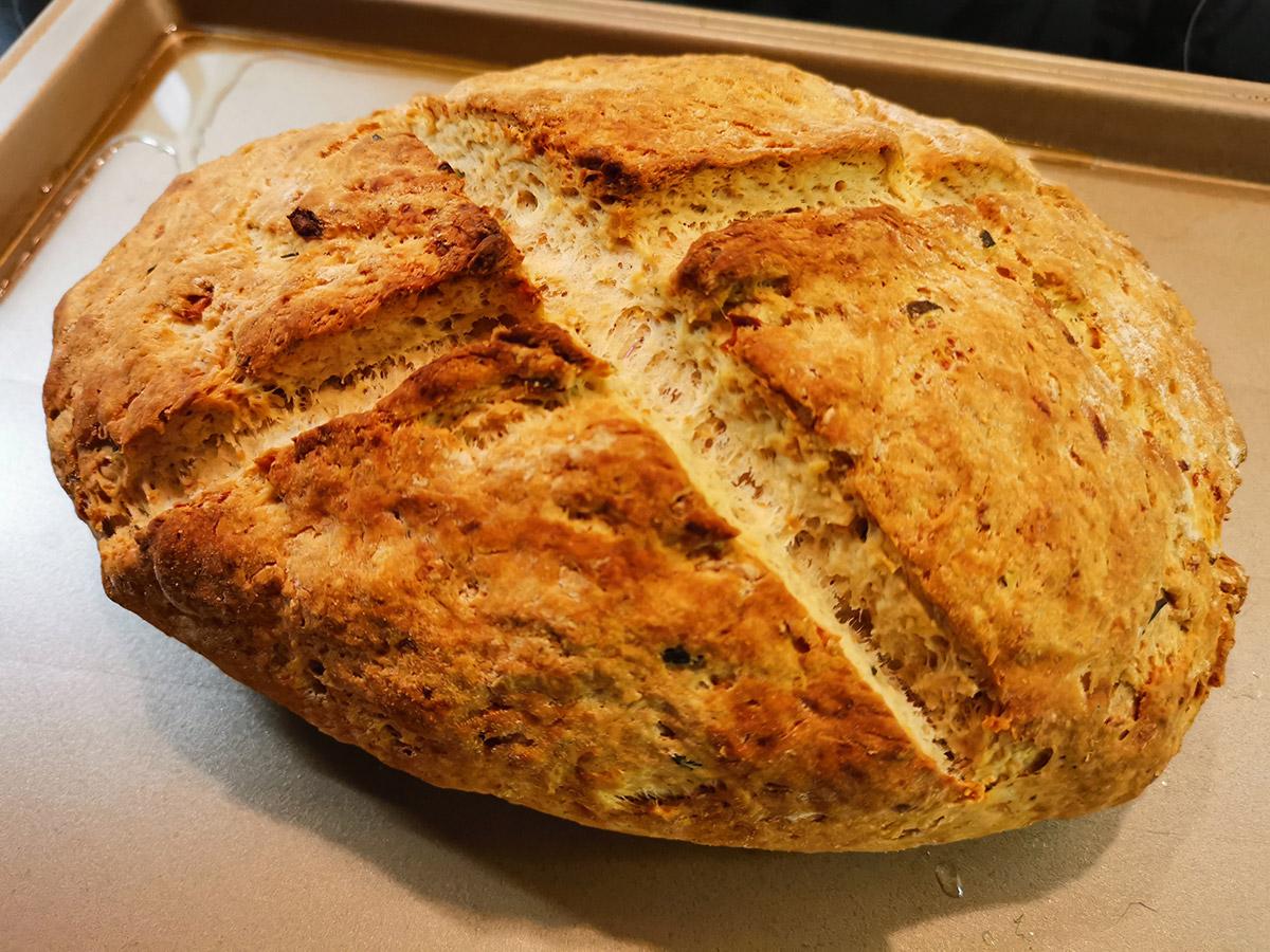 Rustic olive soda bread recipe