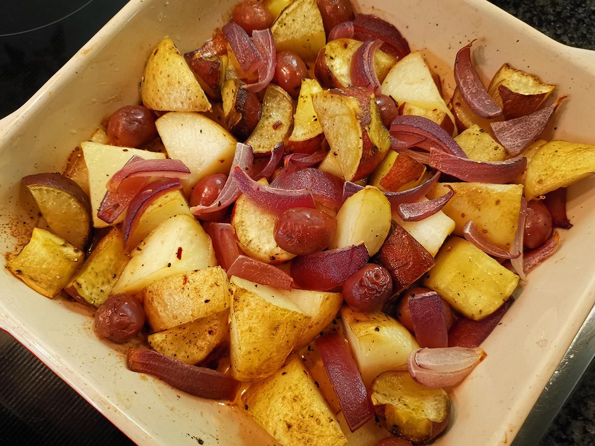 Potato and olive bake recipe
